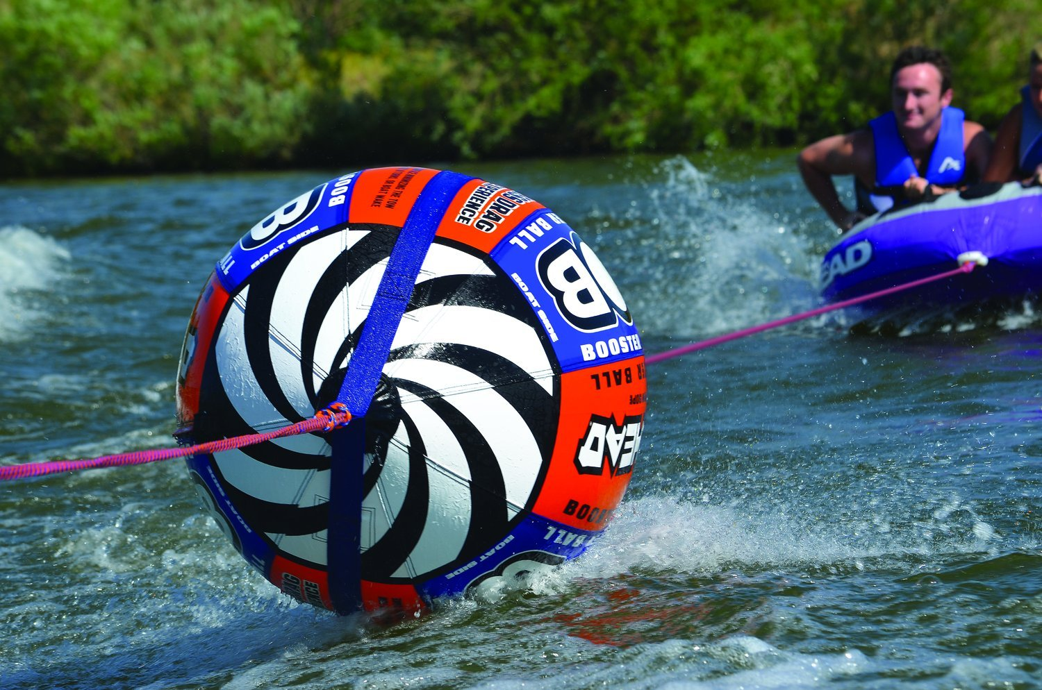 Airhead Bob Tow Rope With Inflatable Buoy Waterskiing Towing Harness Towables Sports Outdoors