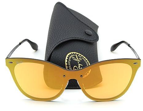 5b14449607 Amazon.com  Ray-Ban RB3580N BLAZE CAT EYE Mirror Sunglasses 90377J ...