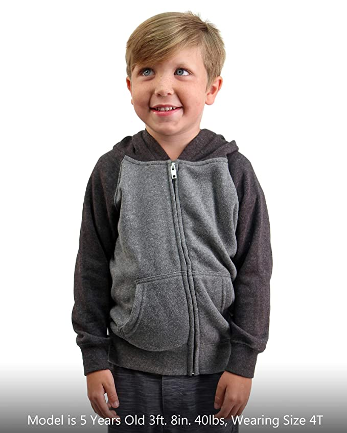 7ae5a3971d2e Amazon.com  Global Youth Lightweight Zip Up Fleece Hoodie for Boys ...
