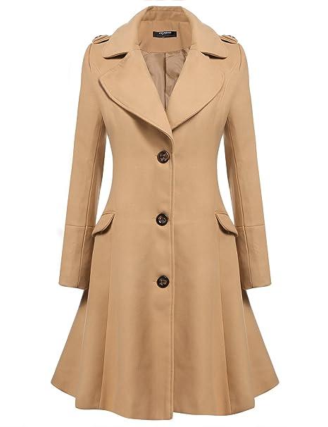 cappotto lungo svasato donna