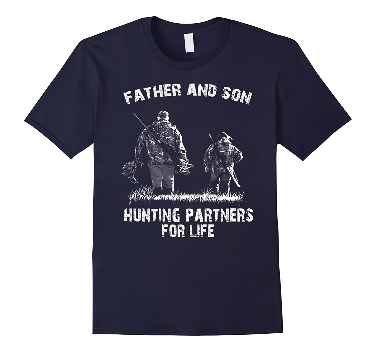 Fathers day Shirt-Father and son hunting partners for life-TD
