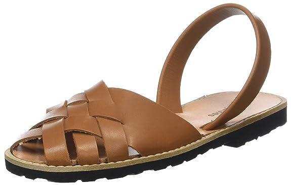 Womens Avarca Métal Azul Open Toe Sandals Minorquines AesJH