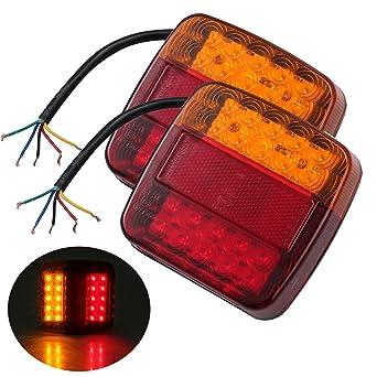 Rotes Dreieck LED Motorrad Brems und Rücklicht mit Nummernschildbeleuchtung