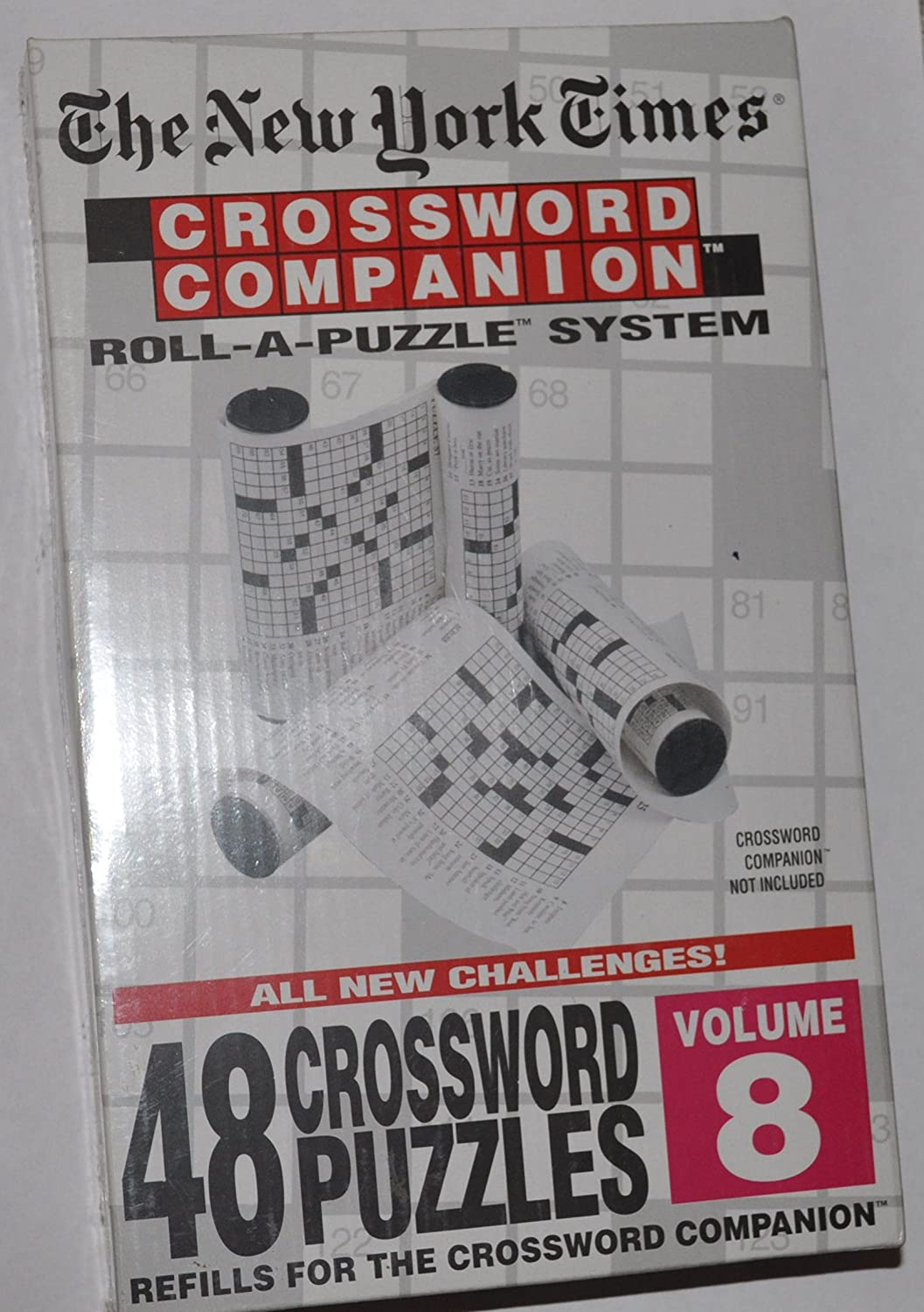 The New York Times Crossword Companion Roll A Puzzle Refills Volume 8
