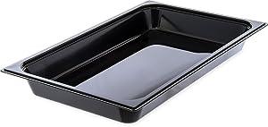 "Carlisle 10200B03 StorPlus Full Size Food Pan, Polycarbonate, 2.5"" Deep, Black"