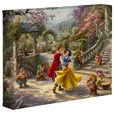 Thomas Kinkade Studios Disney Snow White Dancing in The Sunlight 8  x 10  Gallery Wrapped Canvas