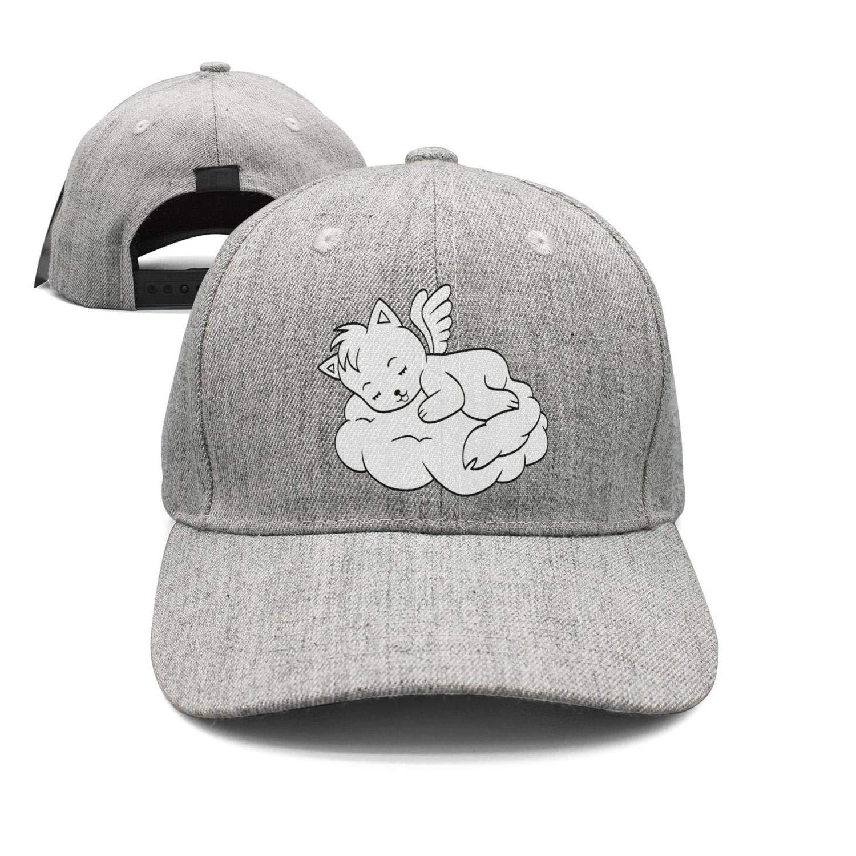18cf77b6316 Amazon.com  Cute Sleeping Angel cat Hats for Women Cotton Baseball Team Cap   Clothing