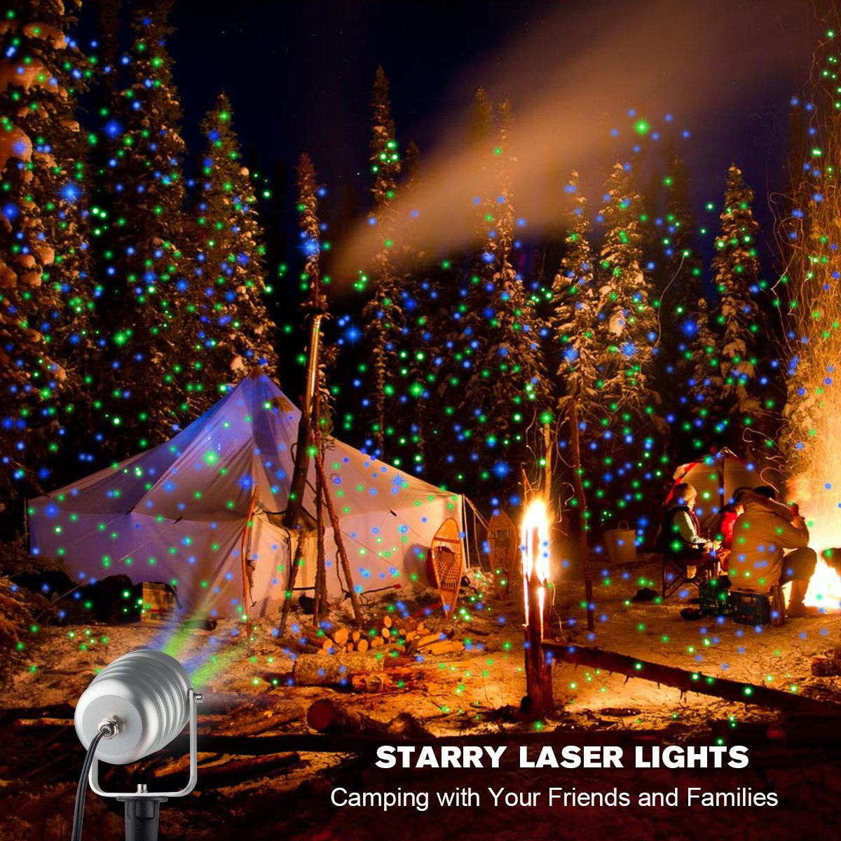 Amazon.com: Christmas Laser Lights Outdoor Projector Lights Moving ...