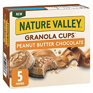 NATURE VALLEY, Granola Cups Peanut Butter Chocolate Flavour, 5ct, 191g/6.7oz, Imported from Canada}