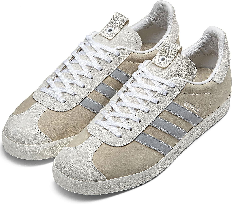 bienestar Ruina Prisionero de guerra  Amazon.com | adidas Mens Alife Gazelle S.E. Tan/White Suede Size 9 |  Fashion Sneakers