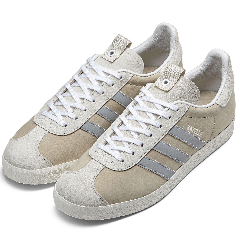 finest selection 3808c 9e57f adidas Mens Alife Gazelle S.E. TanWhite Suede Size 12 Amazon.co.uk Shoes   Bags