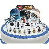 Toppershack 29 x decoración para pasteles comestibles PRECORTADAS de Lego Star Wars