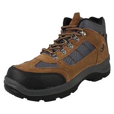 Hi-Tec Safehike Mens Mid Safety Boots (UK 7) (Brown): Buy