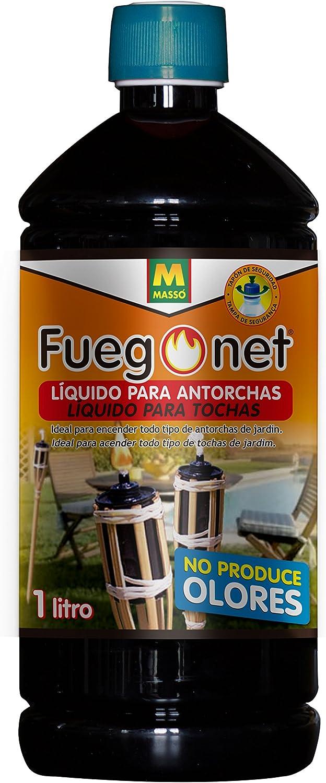 FUEGO NET Fuegonet 231203 Liquido para antorchas Negro 7.2x27x7.2 ...