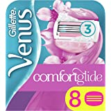 Gillette Venus Comfortglide Spa Breeze 2-in-1 Women's Razor Blades with Shaving Gel Bars, No Shave Cream Needed (Packaging May Vary) - 8 Pack