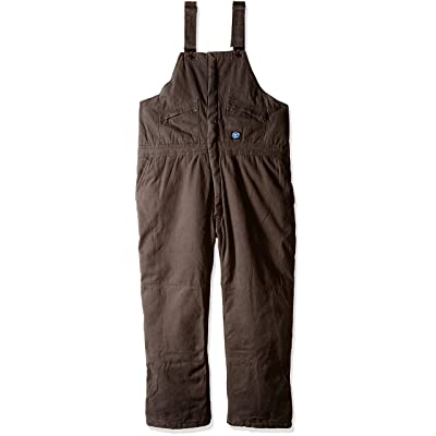 Polar King Men's Big & Tall Premium Insulated Bib Overall, Bark, 3X-Large/Regular: Clothing