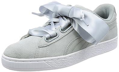 21b16a7687eac3 PUMA Shoes – Basket Heart Safari Wn´s Grey Silver White Size  41 ...