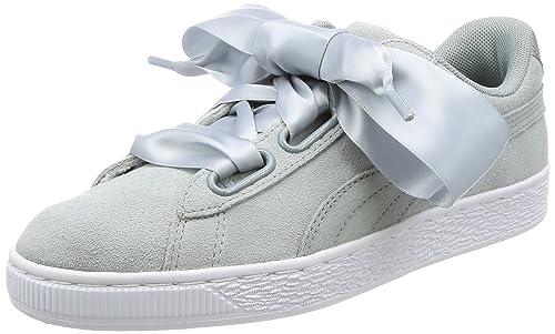 c18d4e34151 Puma Women s Suede Heart Safari WN s Grey Sneakers - 3 UK India (35.5 EU