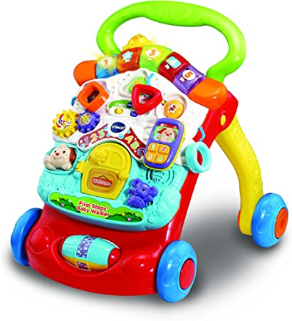 Amazon.com: First Steps Baby Walker (amarillo): Toys & Games