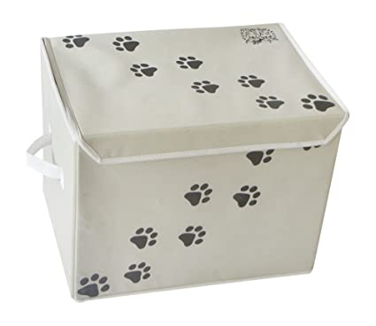 Feline Ruff Large Dog Toys Storage Box. 16u0026quot; X 12u0026quot; Inch Pet Toy