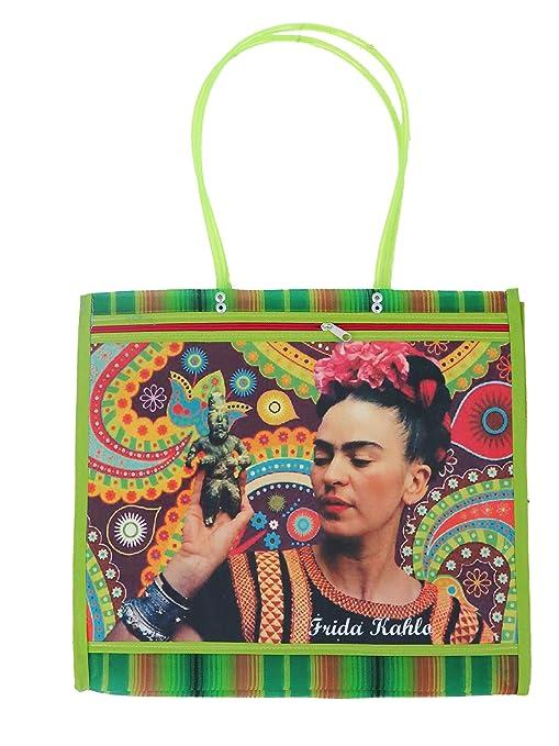 Leos Imports (TM) ASA Deluxe Mexican Mercado Shoulder Mesh Bag (Frida Khalo) (Design 6)