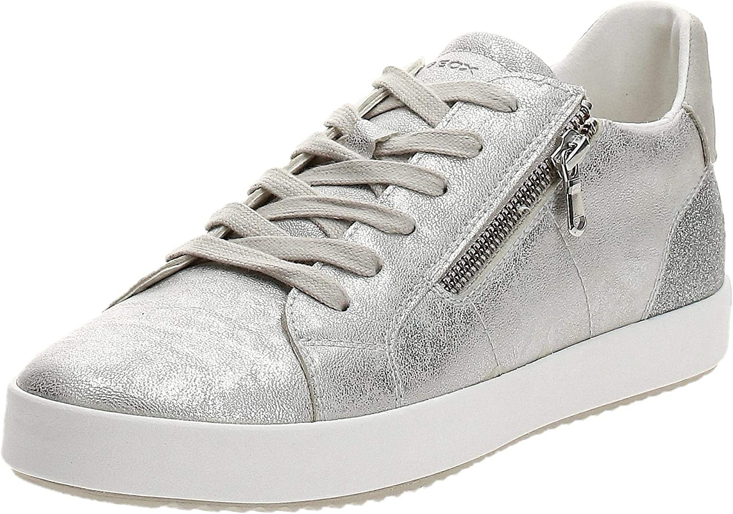 Contribuyente Guardia no  Amazon.com | Geox D Blomiee Trainers Women Silver Low Top Trainers Shoes |  Shoes