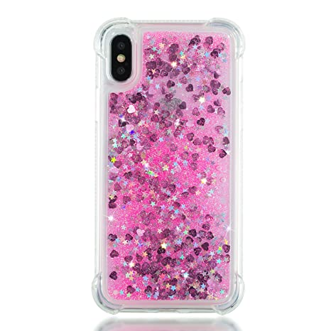 coque iphone x bling bling rose