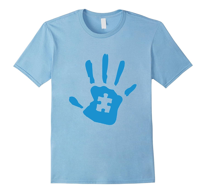 Round Neck Autism Handprint Women's T Shirt