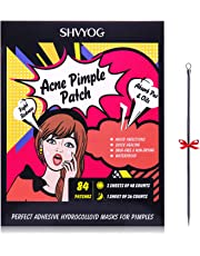 Acne Patch, SHVYOG Acne Pimple Patch Acne Spot Treatment Dot Absorbing Cover, Acne Spots Stickers Acne Pimple Master Patch Hydrocolloid Acne Cover Patch (84 Patches)