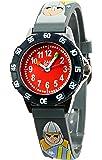 Baby Watch - 3700230605989 - Zap Tournoi - Montre Garçon - Quartz Analogique - Cadran Rouge - Bracelet Plastique Gris