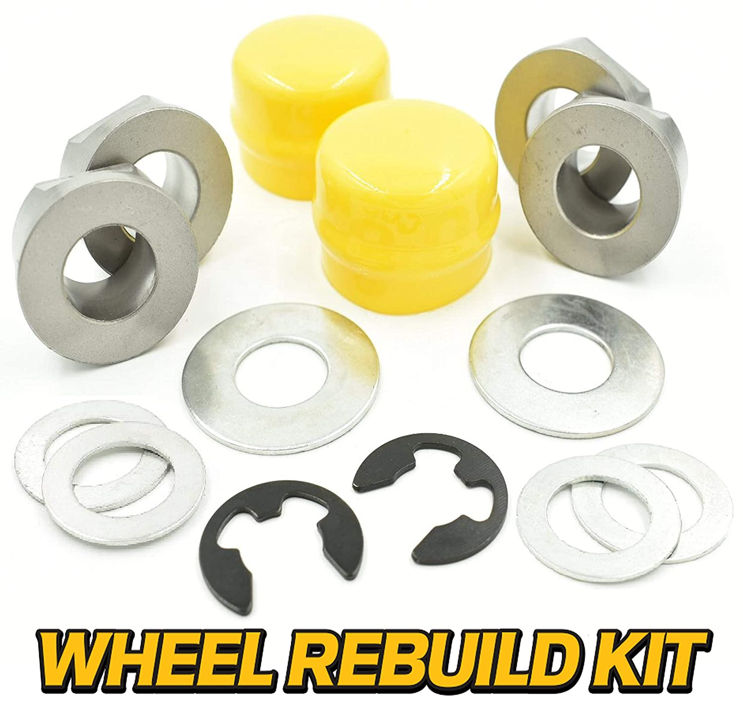 HD Switch Front Wheel Bushing Kit Replaces John Deere L100 L105 L108 L110 L120 L130 - LA100 L105 LA115 LA125 LA130 LA135 LA140 LA145 LA150 LA155 LA165 LA175 - D100 D105 D110 D120 D130 D140 D150 D160