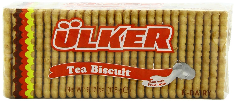 Ulker Tea Biscuit, 6.17 Ounce (Pack of 16)