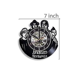 Avenged Sevenfold Vinyl Record Wall Clock, Avenged Sevenfold Rock Band, Avenged Sevenfold Music, Avenged Sevenfold Artwork, Avenged Sevenfold Clock, Wall Decor, Avenged Sevenfold Gift, Art, Metal Band