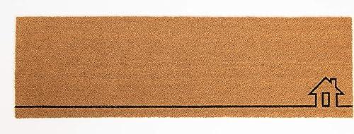 Fab Habitat Handwoven, Extra Thin Doormat Entryway Door mat for Patio, Front Door Decorative All-Season Home View Non-Slip 18 x 60 x 0.60
