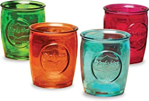 Circleware 69081 Yorkshire Heavy Base Whiskey Glasses 4-Piece, Party Entertainment Dining Beverage Drinking Glassware Cups for Water, Liquor, Beer, Ice Tea, Juice and Farmhouse Decor, 13 oz