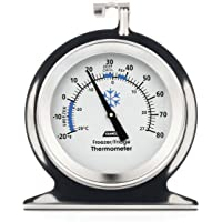 Camco Durable Steel Refrigerator-Freezer Thermometer - Monitors the Internal Temperature of Your Refrigerator or Freezer…