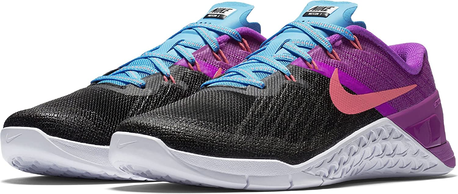 Nike Womens Metcon 3 Training Shoes B071H839XK 8 D(M) US|Black / Racer Pink - Hyper Violet