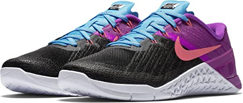9e4c2373fdd40 Nike Womens Metcon 3 Training Shoes Black Racer Pink - Hyper Violet  849807-002