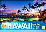 ハワイ 2019年 カレンダー 壁掛け SD-3 (使用サイズ 594x420mm) 風景