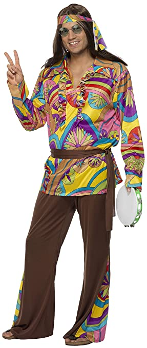 60s , 70s Hippie Clothes for Men Smiffys Mens Psychedelic Hippie Man Costume $37.97 AT vintagedancer.com