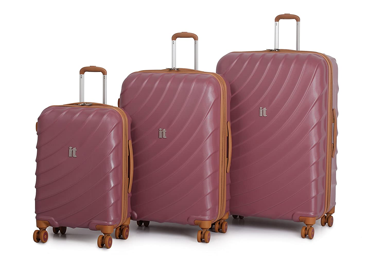 Amazon.com | it luggage Duraliton Zeus 3 Piece Set, Roan Rouge ...