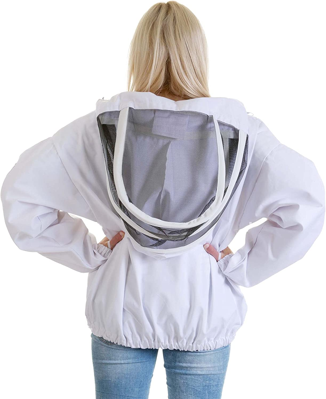 Buzz Work Wear Tunique blanche avec voile descrime Taille S