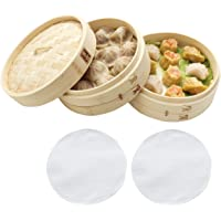 Zoie + Chloe 100% Natural Bamboo Steamer Basket - with Bonus Reusable Cotton Liners