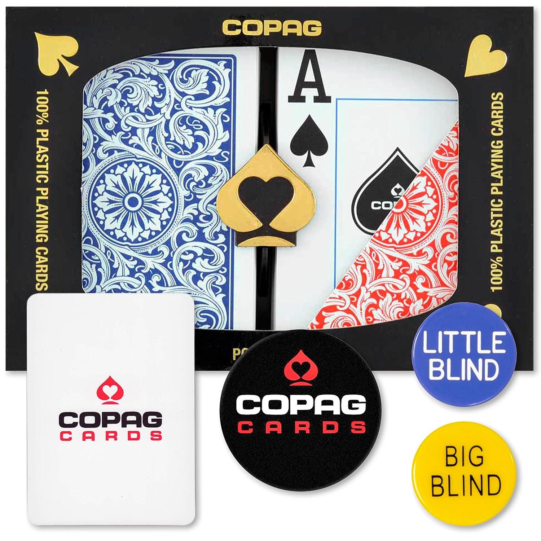 Copag Dealer Kit Poker Size Jumbo Index Red Blue