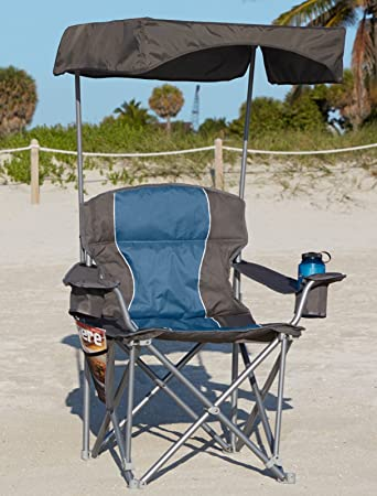 UPF 50+ Canopy for Heavy-Duty Portable Chairs (Grey) & Amazon.com : UPF 50+ Canopy for Heavy-Duty Portable Chairs (Grey ...
