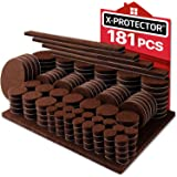 X-PROTECTOR Premium Ultra Large Pack Felt Furniture Pads 181 Piece! Felt Pads Furniture Feet All Sizes – Your Best Wood…