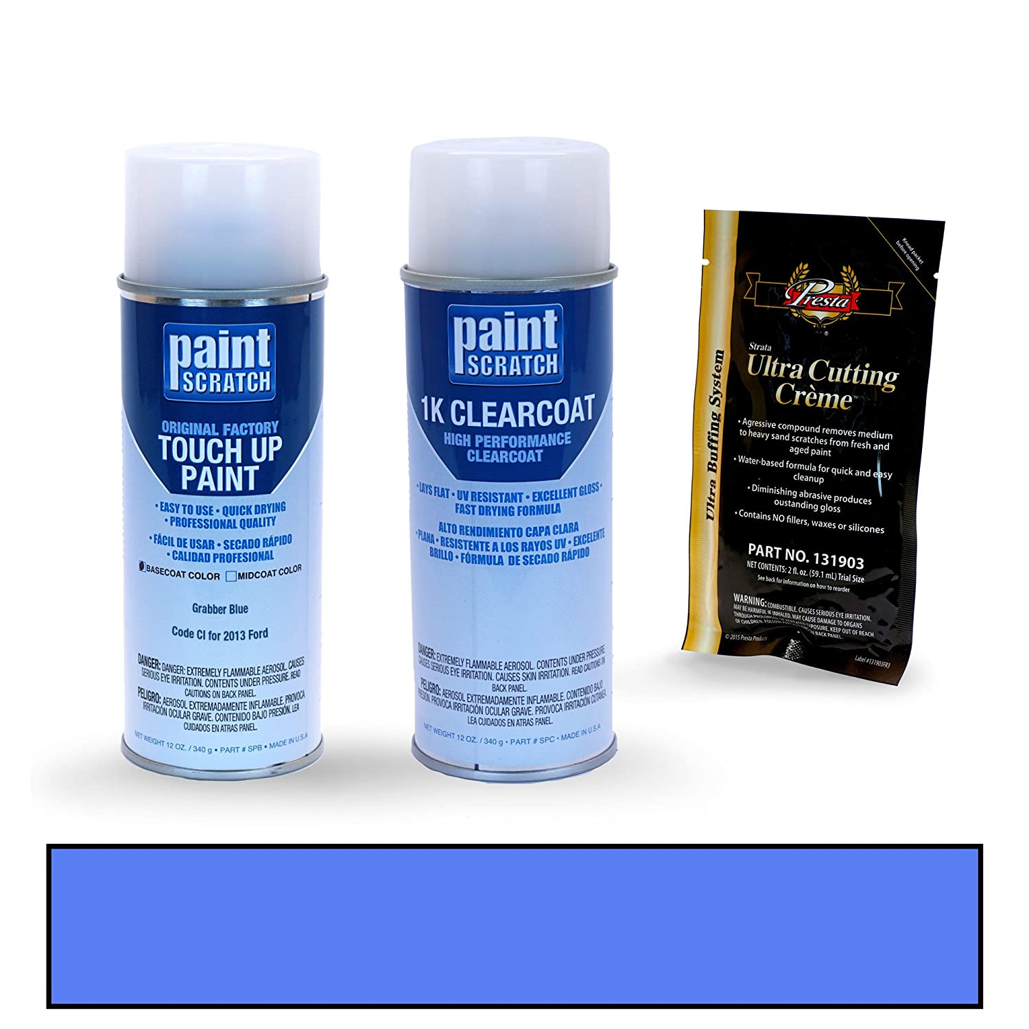 amazon com 2013 ford mustang grabber blue ci touch up paint spray