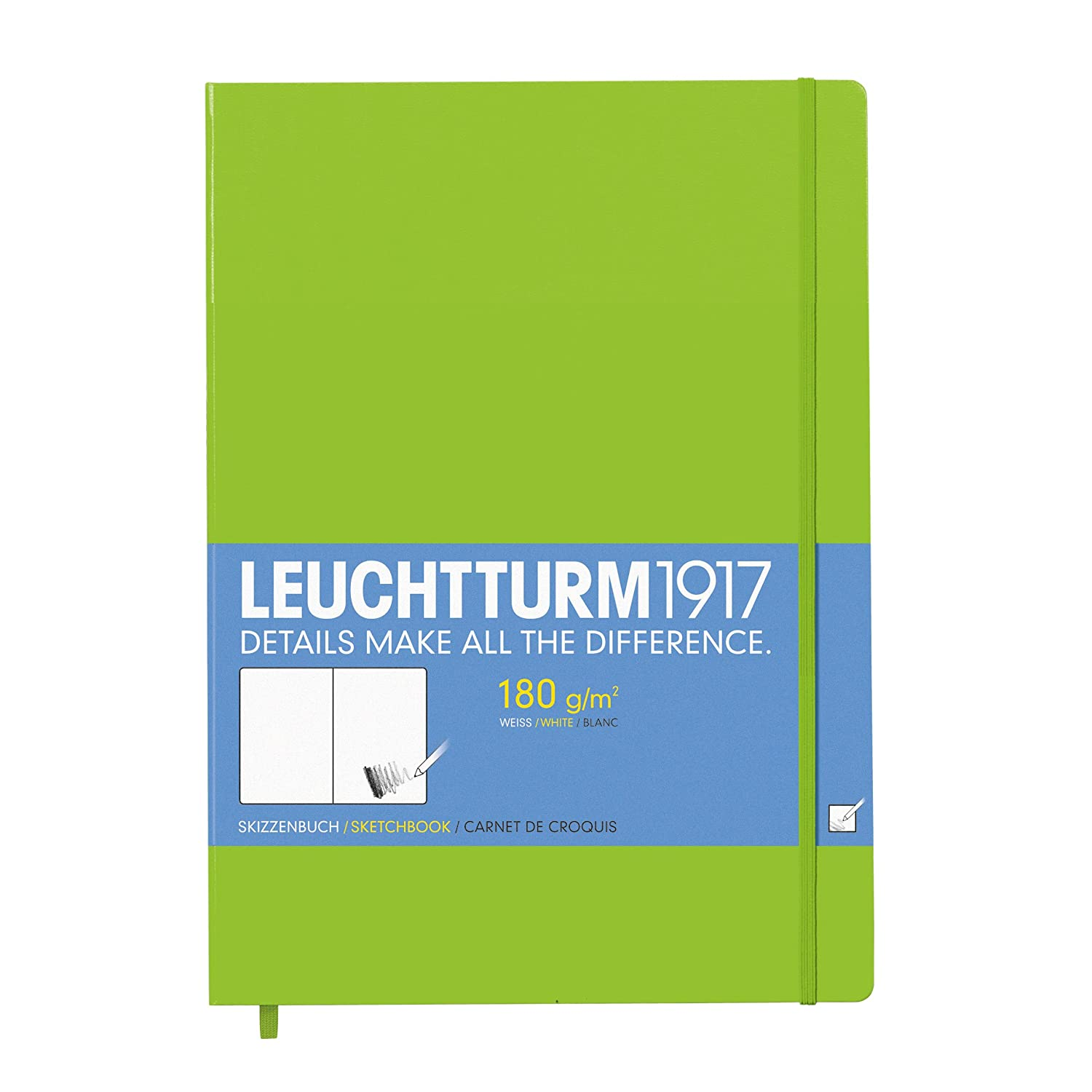 LEUCHTTURM1917 A4+ Sketchbook Master Extra Strong Paper - Lime (96 Pages) OfficeCentre 344674