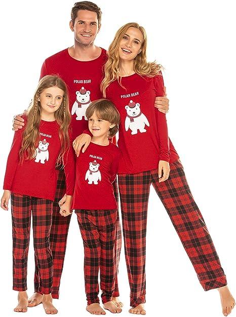 Schwarz // Rot Herbst Schlafanzug f/ür Jungen Weihnachten Winter
