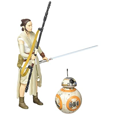 Star Wars The Black Series 6-Inch Rey (Jakku) and BB-8: Toys & Games